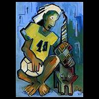 'Shirt Number 10' - Soccer Boy Dreams Brazil Fine Art Painting