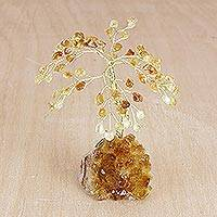Gemstone tree Citrine Blossoms small Brazil