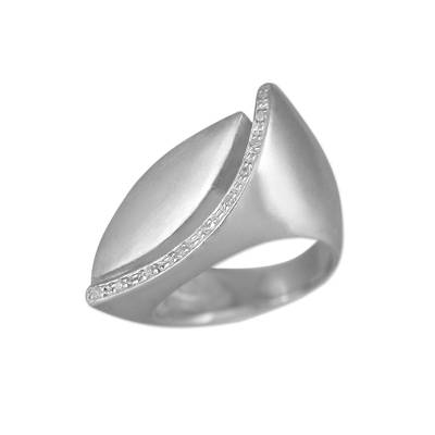 Sterling silver cocktail ring