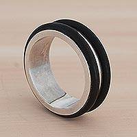 Men's sterling silver ring, 'Hercules'