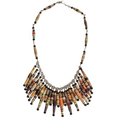 Hand Made Brazilian Recycled Paper Waterfall Necklace