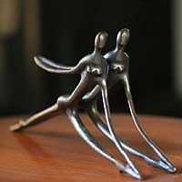 Bronze sculpture, 'Synchronicity' - Bronze sculpture