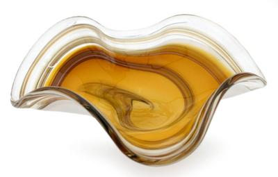 Murano Style Handblown Art Glass Centerpiece