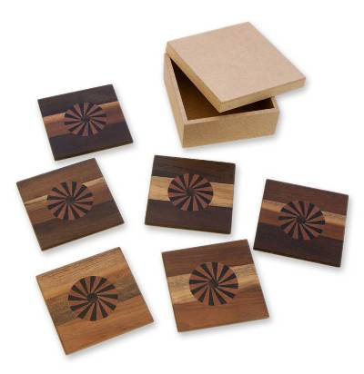 Cedarwood coasters (Set of 6)