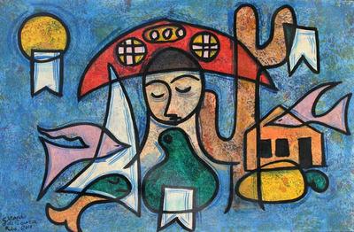 Folk Art Painting from Brazil