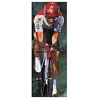 'Cyclist' - Bike Racing Original Acrylic Painting