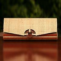 Buriti palm clutch handbag, 'Tropical Chic' - Palm Clutch Handbag Handmade in Brazil
