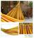 Cotton hammock, 'Sunny Brazil' (double) - Hand Made Yellow Striped Fabric Hammock (Double) (image 2) thumbail