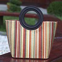 Cotton tote bag, 'Samba Chic' (Brazil)