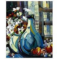 'Still Life with Flowers' - Still Life Expressionist Painting