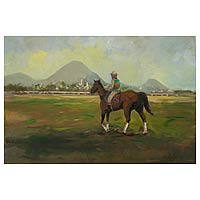 'Sunset in the Paddock' - Landscape Impressionist Painting