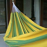 Cotton hammock Brazilian Pride single Brazil