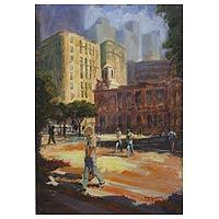'Downtown Rio de Janeiro' (2010) - Landscape Expressionist Painting