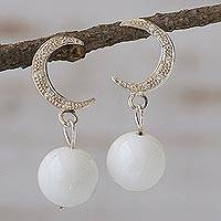 Dolomite dangle earrings,