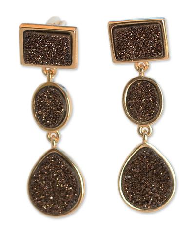 Brazilian drusy agate earrings