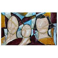 'Unity' - Cubist Painting from Brazil