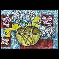 'Vase of Happiness' - Still Life Expressionist Painting
