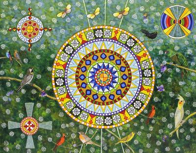 Floral Naif Painting