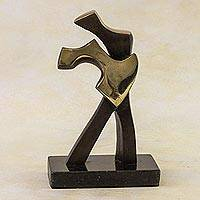 Bronze sculpture, 'Dancing' - Bronze sculpture