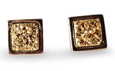 Brazilian Drusy Stud Earrings