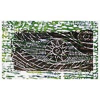 'Eye of the Spring' - Abstract Wood Cut Print