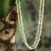Jade beaded necklaces,
