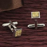 Brazilian drusy agate cufflinks,