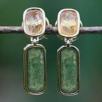 Featured review for Gold plated citrine dangle earrings, Brazilian Spirit