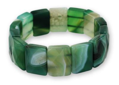 Agate stretch bracelet