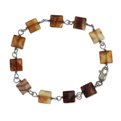 Brazilian Agate Bracelet Crafted by Hand