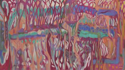 Brazilian Abstract Marshland Painting