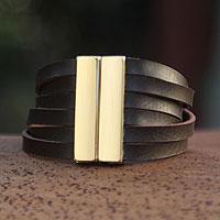 Gold accent wristband bracelet,