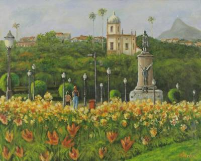 'Our Lady of Glory of the Hill Church' - Quiet Church Painting
