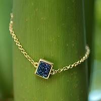 Brazilian drusy agate pendant bracelet,