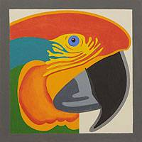 'Macaw' - Naif Painting of a Brazilian Macaw