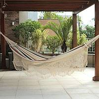 Cotton hammock Joyous Earth double Brazil