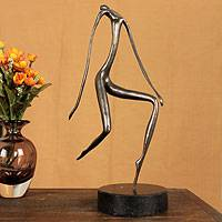 Bronze sculpture, 'Contemplation' - Modern Brazilian Bronze Sculpture