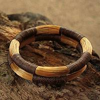 Golden grass bangle bracelets,