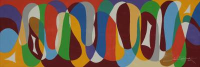 'Curves II' - Original Brazilian Geometric Abstraction Painting