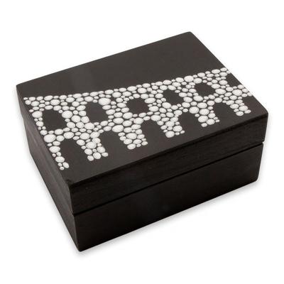 Arcos da Lapa Decorative Wood Box in Black and White