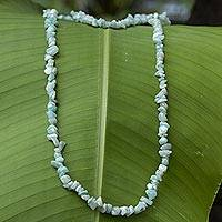 Amazonite beaded necklace,