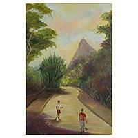 'City of My Loves' - Signed Impressionist Painting of Rio de Janeiro