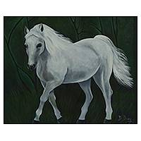 'Neptune' - Original Signed Horse Painting from Brazil