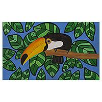 'Toucan II' - Brazil Colorful Pop Art Painting of a Toucan