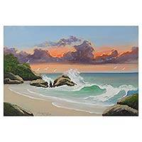 'Sunset' - Signed Painting of the Sea at Sunset