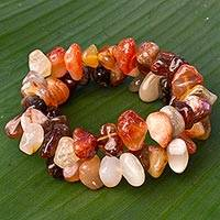Agate stretch bracelets,