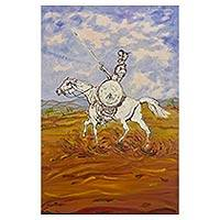 'Don Quixote II' - Brazilian Fine Art Expressionistic Painting of Don Quixote