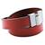 Leather wrap bracelet, 'Chic Crimson' - Leather Crimson Wrap Bracelet Steel Clasp from Brazil (image 2d) thumbail