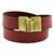 Leather wrap bracelet, 'Trendy Crimson' - Leather Wrap Criss Cross Bracelet Clasp from Brazil (image 2a) thumbail