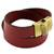 Leather wrap bracelet, 'Trendy Crimson' - Leather Wrap Criss Cross Bracelet Clasp from Brazil (image 2e) thumbail